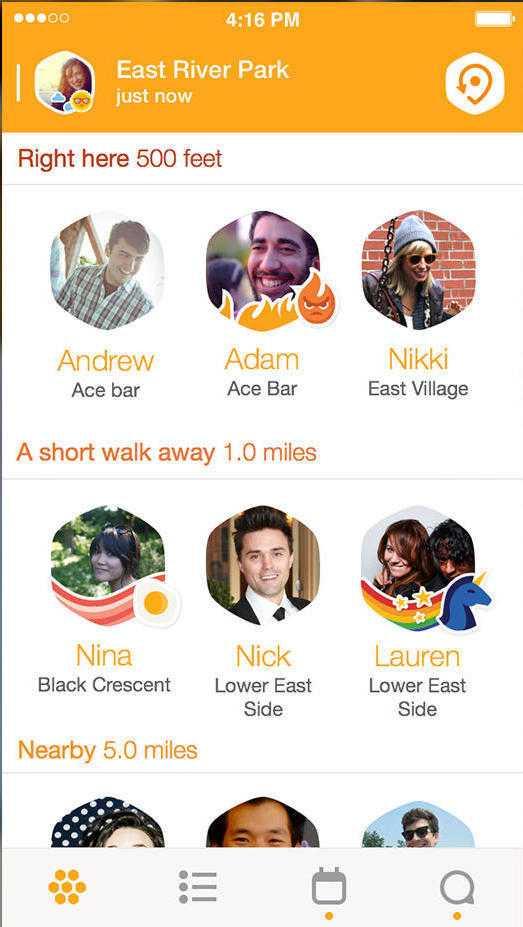 Nutzer können ihren Standort auf Stadtviertelebene freigeben - für Kontakte in derselben Stadt
