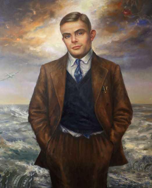 Alan Turing, Porträt