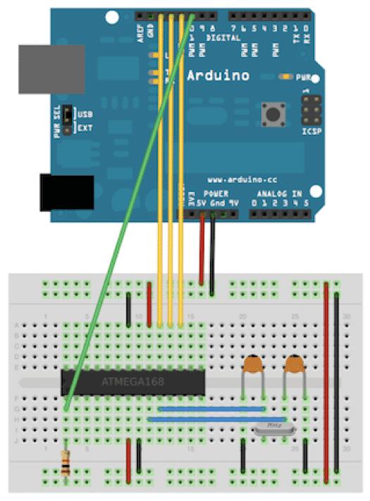 Arduino als Programmer
