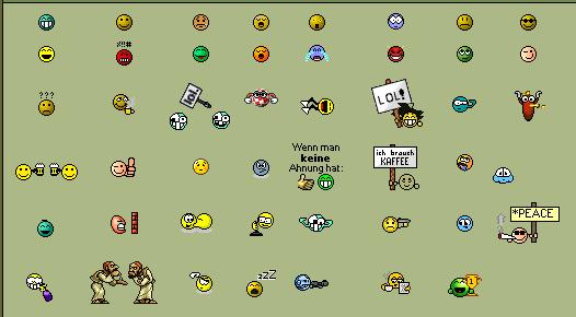 Eine typische Smileysammlung eines PhpBB-Forums
