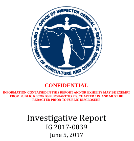 "Deckblatt ""Confidental - Investigative Report"""