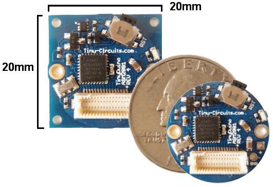 Der TinyDuino verfügt über einen ATmega328P-Prozessor.