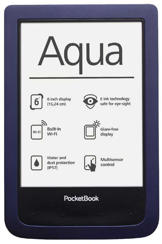 Staub- und wassergeschützt nach IP57: Das Pocketbook Aqua.