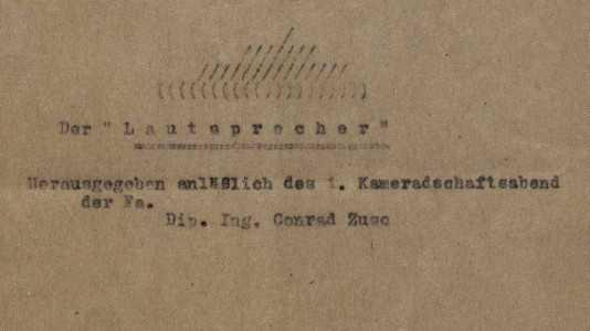 Konrad Zuse 1942: Kabarett im Krieg