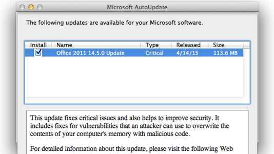 Mac-Office-Update behebt Sicherheitsprobleme – und stört Outlook