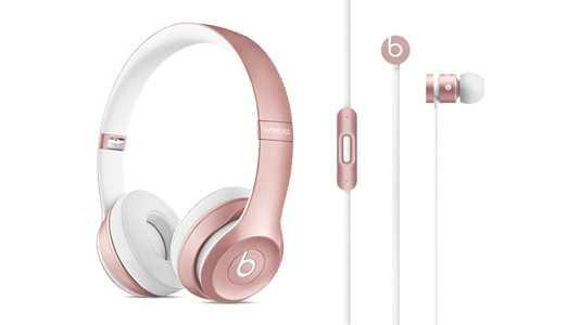 Beats-Produkte in Roségold