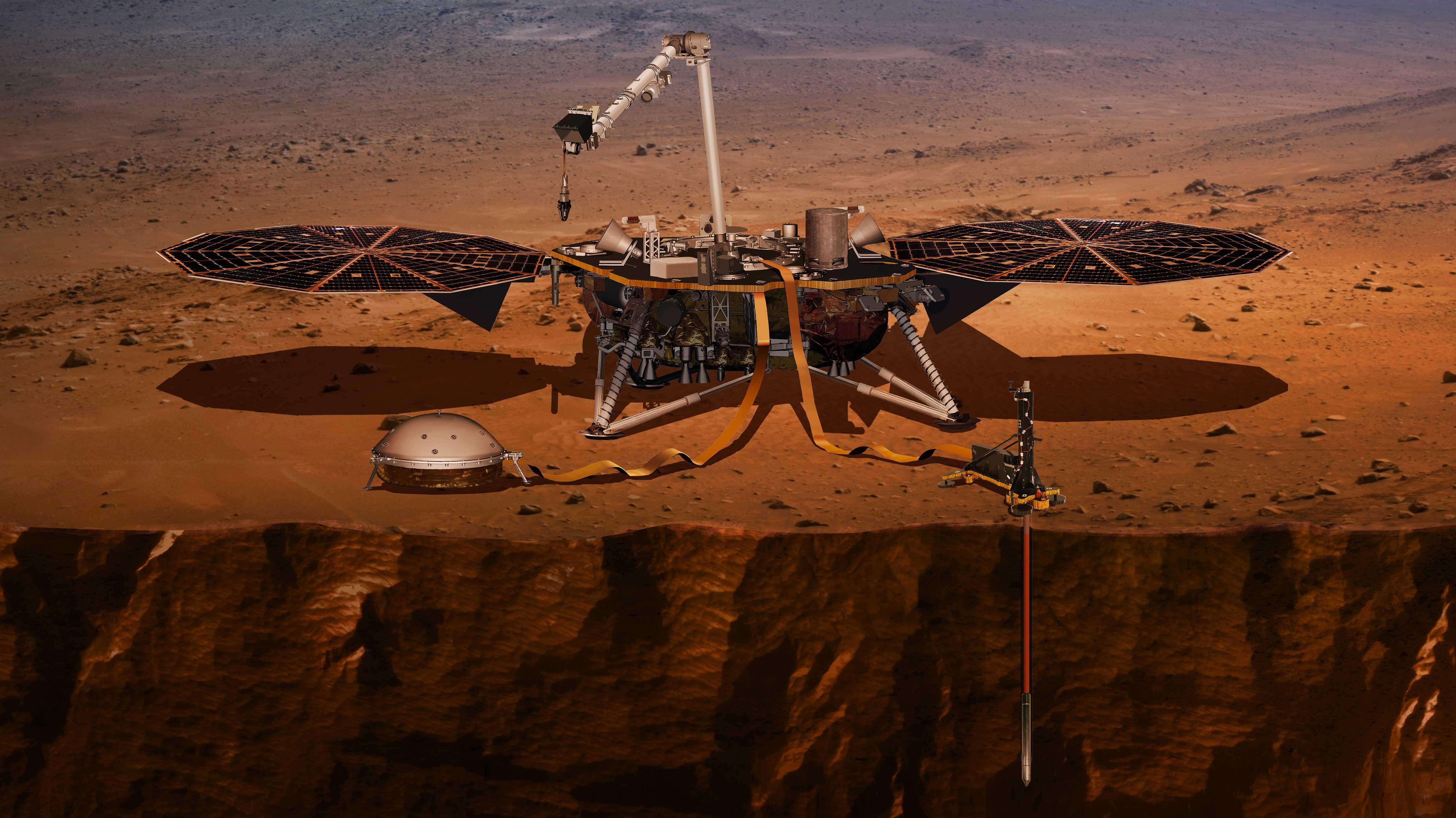 """HP3-Sonde: Ein """"Maulwurf"""" gräbt sich in den Mars"""
