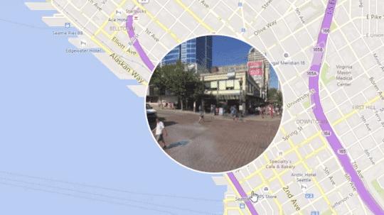 Kartenansicht Bing Maps mit Panorama im Bullague