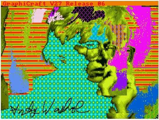 Ein echter digitaler Warhol inklusive Signatur des Künstlers.