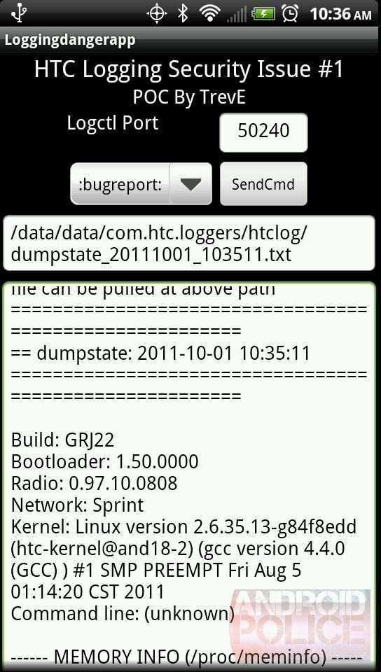 Screenshot der Beispielsoftware