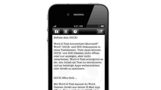 iOS-App Word-2-Text aktuell gratis