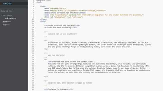 Adobes Code-Editor Brackets springt auf Version 1.0