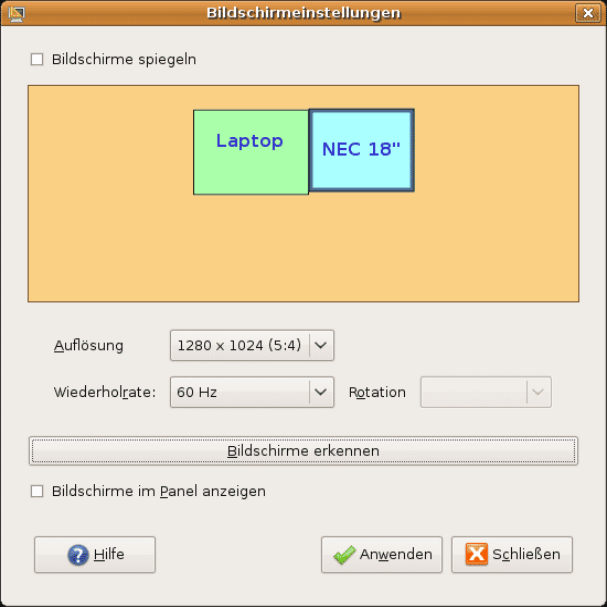 Ubuntu erleichtert die Verwaltung mehrer Bildschirme am Rechner.