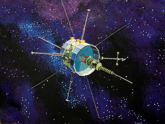 Zeichnung der Sonde ISEE-3/ICE