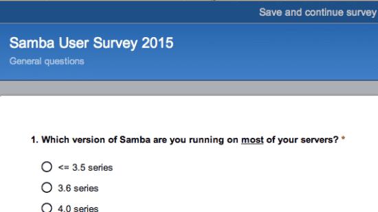 Samba-Emtwickler befragen Nutzer
