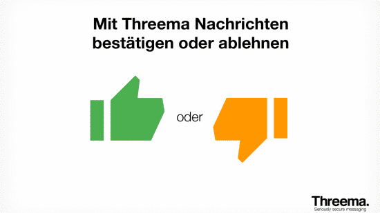 Threema bekommt Dislike-Button