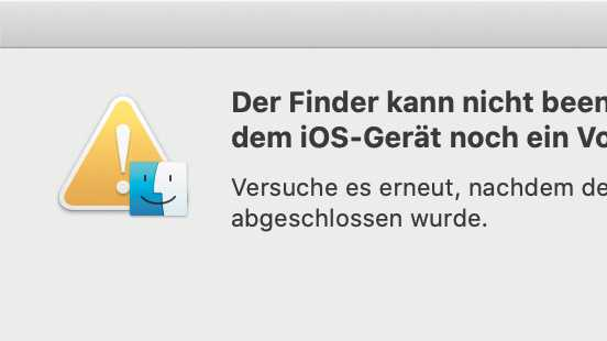 Tipp: Endloses iPhone-Backup verhindert Mac-Neustart