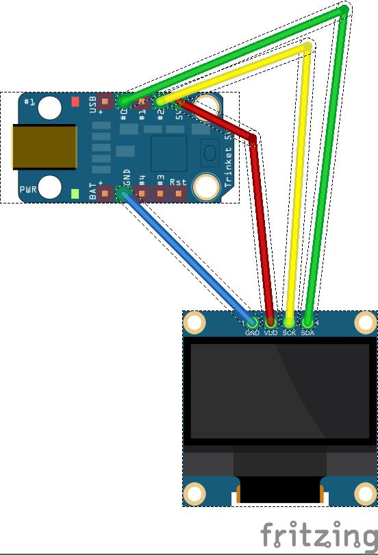 OLED Display SSD1306 an Adafruit Trinket 5V