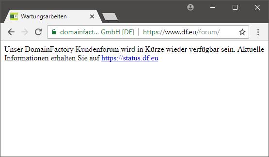 Domainfactory-Kunden hatten sich im Support-Forum der Firma rege mit dem mutmaßlichen Hacker über den Angriff auf den Hoster ausgetauscht. Dann wurde das Forum kurzerhand abgeschaltet.