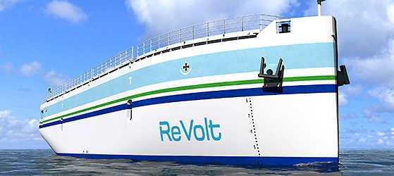 """Noch gibt es das autonome Container-Schiff """"ReVolt"""" nur als 1:20-Modell."""