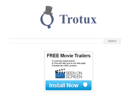 Trotux statt Google: Die Adware manipuliert die eingestellte Suchmaschine.