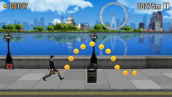 """Die Hintergründe in """"The Ministry of Silly Walks"""" bilden das moderne London ab."""