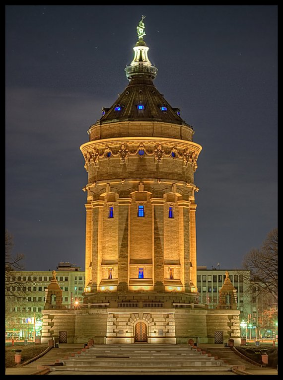 Mannheim Wasserturm Parkhaus