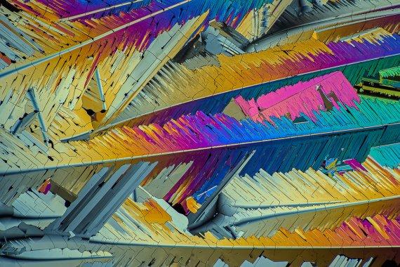 Schwefel, im polarisierten Licht 120:1 B04 von Microphot