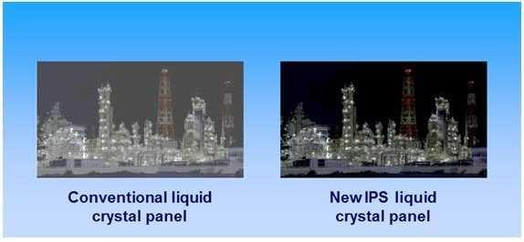 Die neuen IPS-DIspalys sollen enorme In-BIld-Kontraste bieten; erfordern aber auch ein enorm helles Backlight .