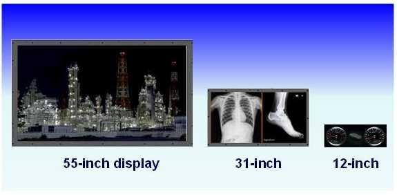 Panasonic kann die kontraststarken Displays nach eigenen Angaben in Größen von 10 bis 100 Zoll produzieren.
