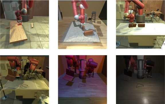Szenen aus dem Möbelaufbau-Simulator