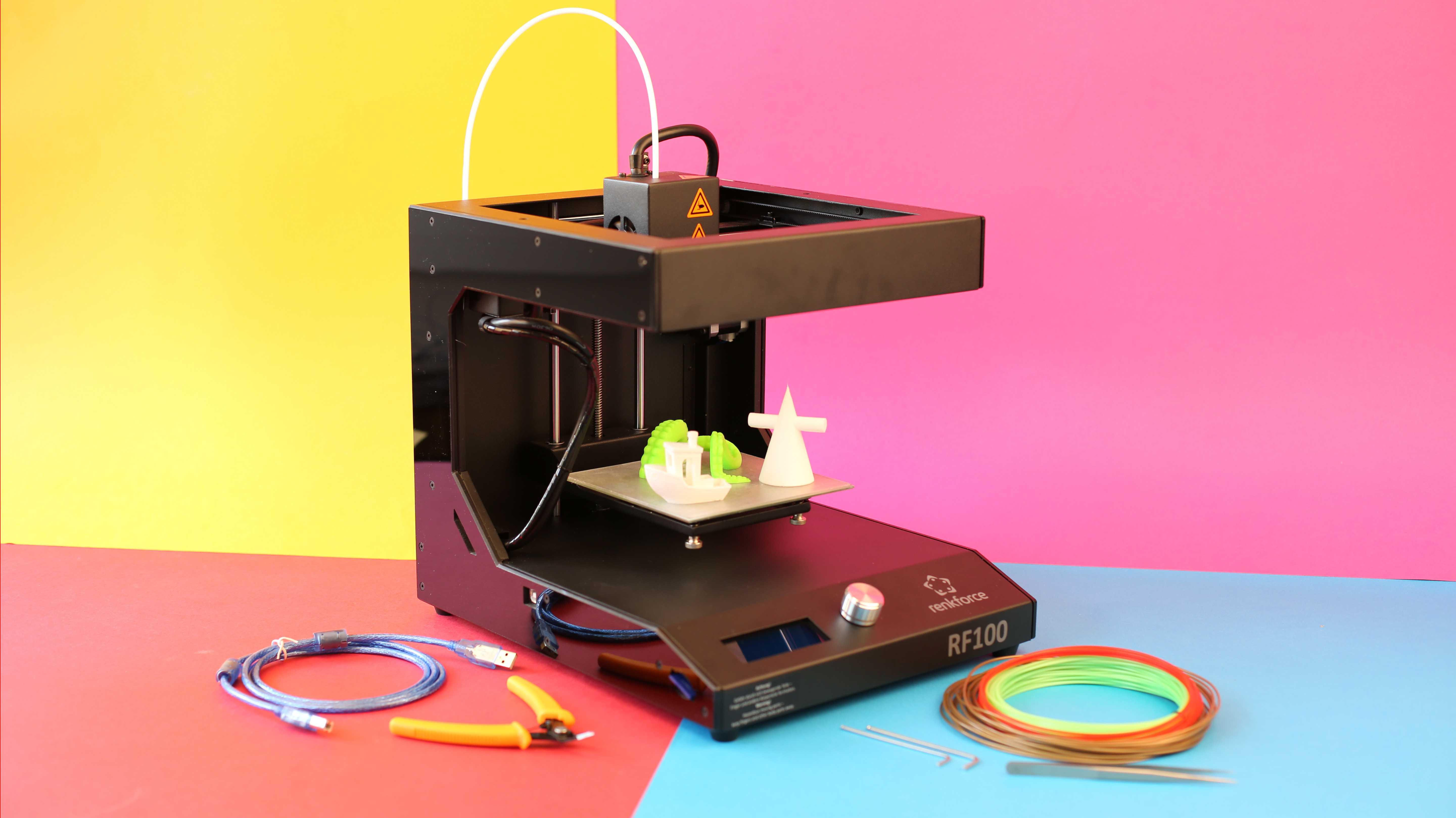 Renkforce RF100: Günstiger 3D-Drucker von Conrad im Test