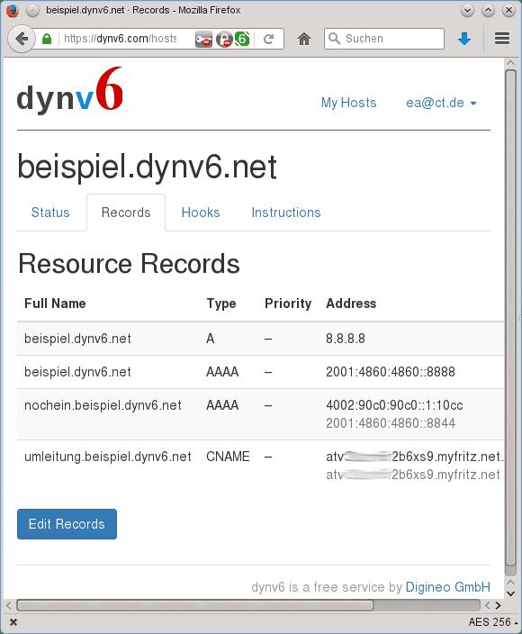 DDNS-Dienst dynv6