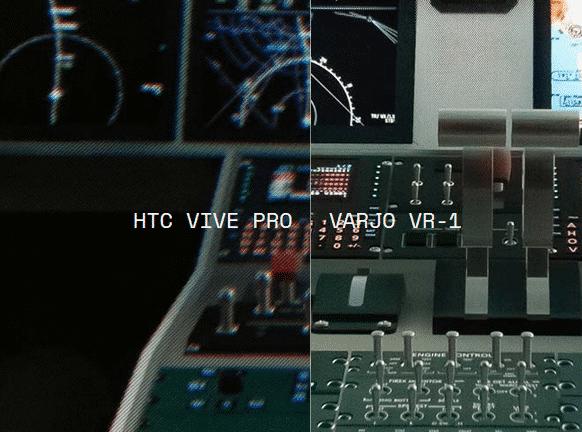 Diese Vergleichsbilder hat Varjo laut eigener Angaben direkt durch die Headset-Linsen fotografiert. In unserem Probelauf haben wir einen ähnlichen Schärfegewinn festgestellt.