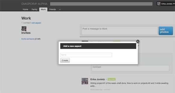 Screenshot joindiaspora.com
