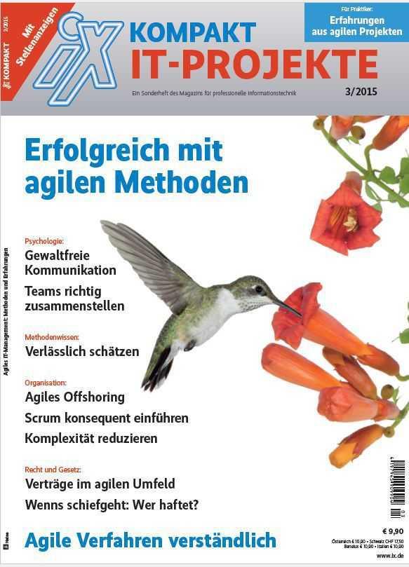 "Ab Montag, den 5.Oktober 2015 im Zeitschriftenhandel: iX kompakt ""Agiles IT-Projektmanagement"""