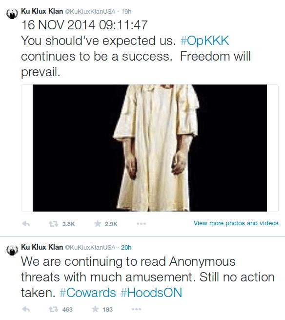 Anonymous gegen den KKK