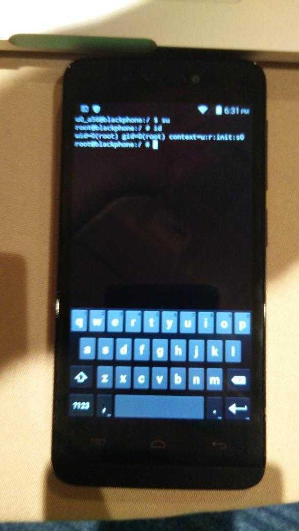 Root auf dem Blackphone