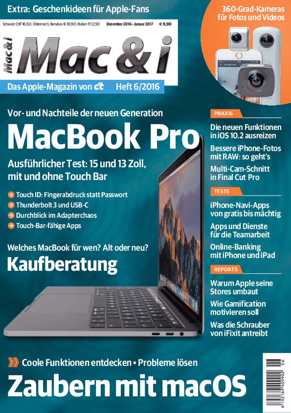 Mac & i Heft 6/2016: Titelbild …