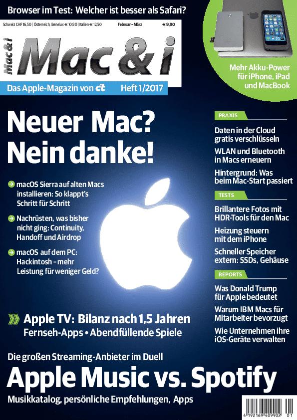 Mac & i Heft 1/2017 – Titelbild …
