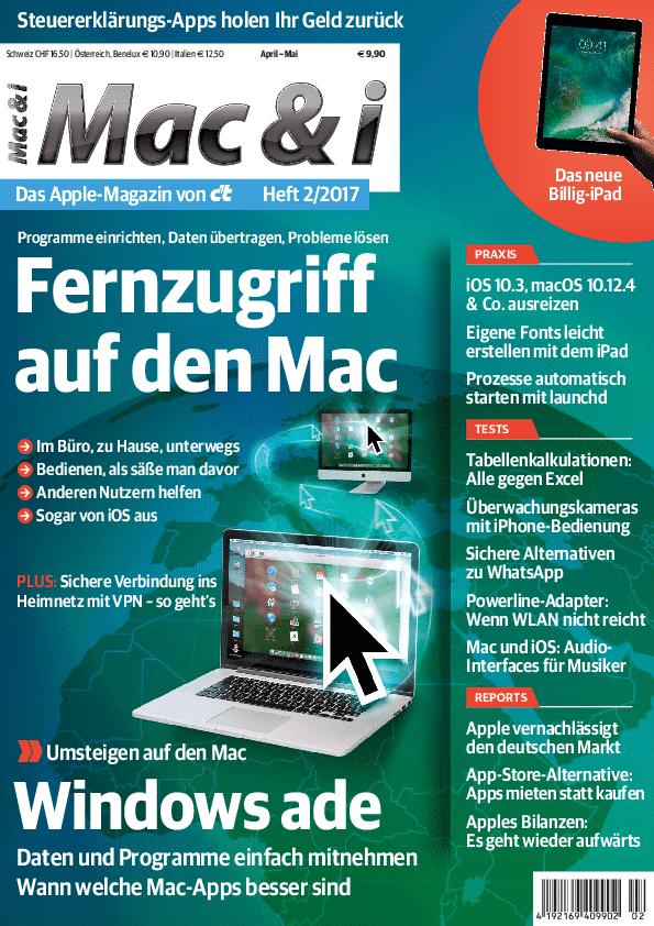 Mac & i Heft 2/2017 jetzt im Heise-Shop bestellbar