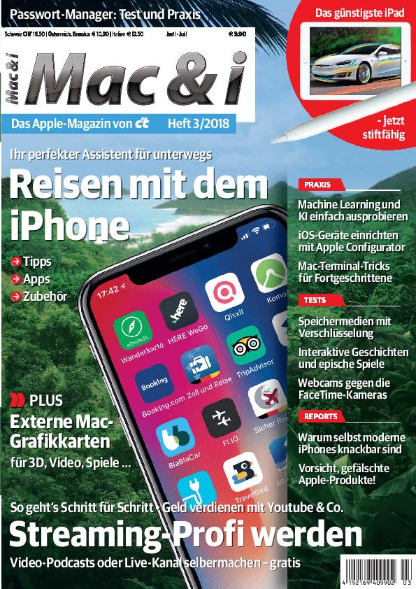 Mac & i Heft 3/2018: Titelbild …
