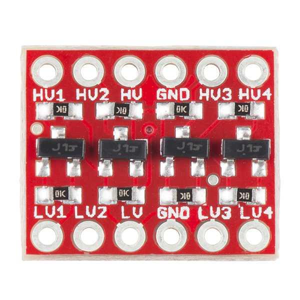 Ein Logic Level Converter vermittelt zwischen 3,3V und 5V Bausteinen