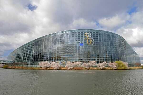 Das Europaparlament in Strasbourg