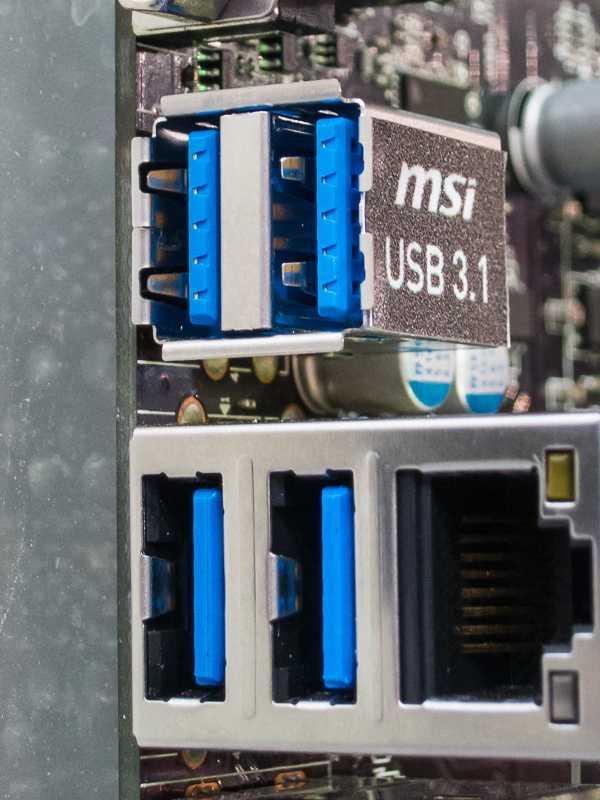 Die Typ-A-Buchse von USB 3.1 ist abwärtskompatibel zu bisherigen USB-Geräten.
