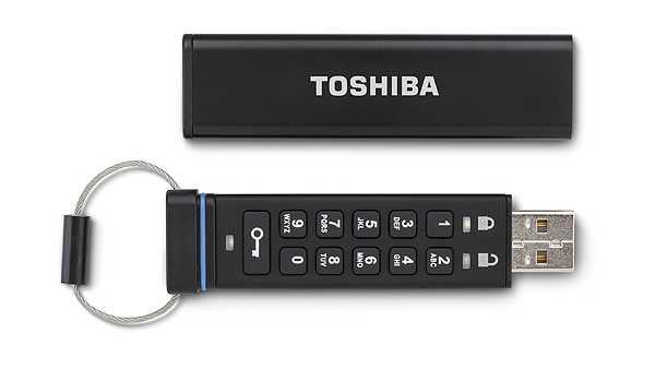 Toshiba stellt verschlüsselten USB Stick mit integrierter Tastatur vor