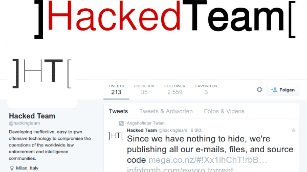 Twitter Konto Hacked Team Hacking Team