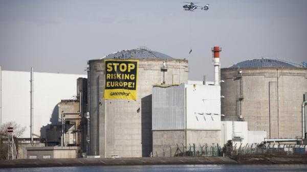 Anti-AKW-Aktion von Greenpeace im französischen Fessenheim