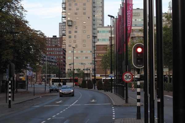 Straßeszene in Tilburg.