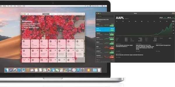 iPhone-Apps: Den ersten Apps, die Apple von iOS auf Mojave gebracht hat, sieht man ihre Herkunft auf den ersten Blick nicht an.